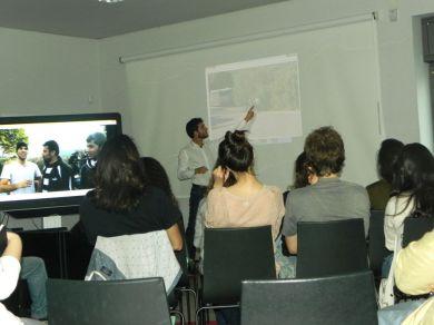 Edgar Raou durante a explanação