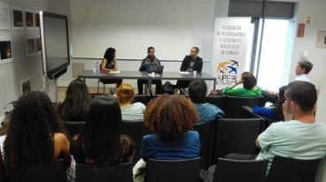 Beatriz Caitana (moderadora), Valentim Ximenes, Leonardo Almeida
