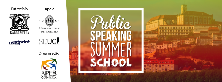 Flyer para evento Public Speaking Summer Schoool - Versão 1.6