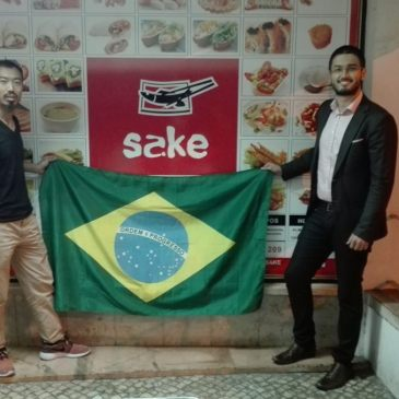 Zhiwei Ma (Gerente/SAKE) e Eduardo Monteiro (Presidente/APEB )